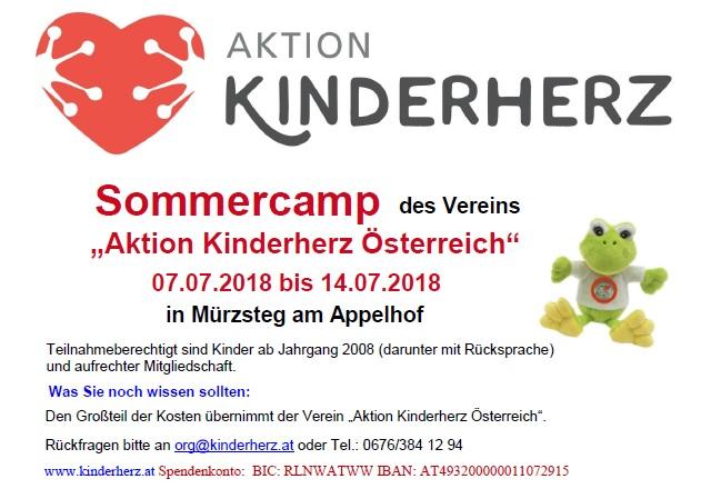 Sommercamp für Herzkinder und ihre Geschwister