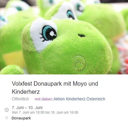 Moyo und Aktion Kinderherz beim Volxfest Donaupark