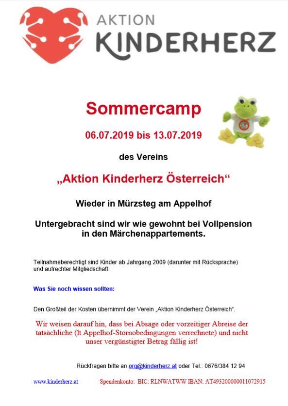 Sommercamp für Herzkinder und ihre Geschwister 2019